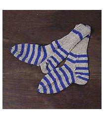 wool socks, 'soft stripes' (india)