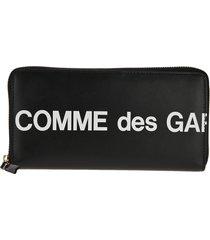 comme des garçons wallet comme des garcons wallet logo-print continental wallet