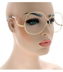 70's retro vintage large big oversized metal frame women fashion sunglasses