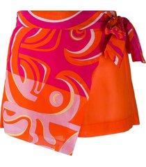 emilio pucci bandana style mini shorts - orange
