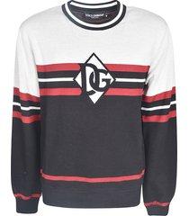 dolce & gabbana logo front stripe sweatshirt