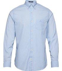 reg broadcloth stripe bd skjorta casual blå gant