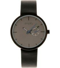 simplify quartz the 3900 genuine black leather watch 40mm