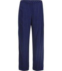 pantalón bota ancha a rayas color azul, talla 10