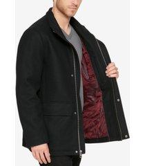 cole haan men's hidden-placket wool coat