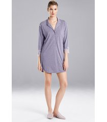 natori luxe shangri-la sleepshirt pajamas, women's, grey, size l natori