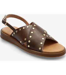 hannah studs shoes summer shoes flat sandals beige pavement