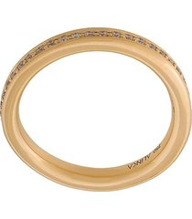 alinka 'tania' thumb ring diamond full surround - metallic