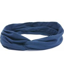 headband turbante bijoulux azul marinho