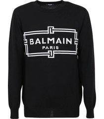 balmain knitted virgin wool pullover