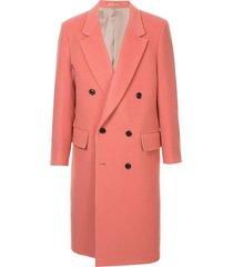 cerruti 1881 longline doublebreasted coat - pink