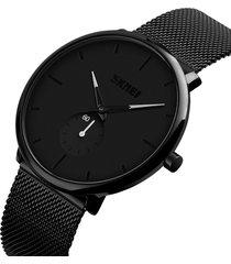 reloj cuarzo skmei caballero casual moda ultra delgado