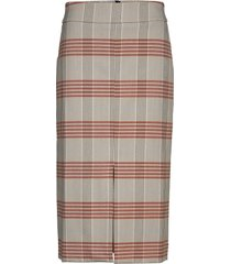 slfzoe hw midi pencil skirt knälång kjol multi/mönstrad selected femme