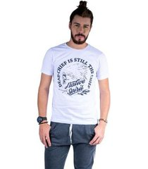 camiseta mister fish estampado native spirit masculina - masculino