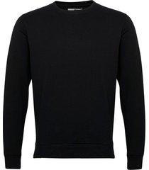 6197729, sweat - morgan crew organi sweat-shirt tröja svart solid