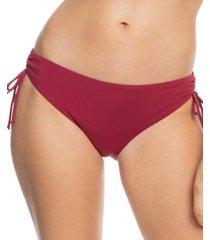 roxy juniors' beach classics tie bikini bottoms women's swimsuit