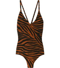 emma swimsuit in brown clay