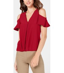 inc surplice cold-shoulder top, created for macy's