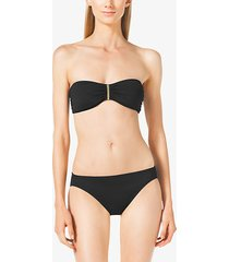 mk reggiseno bikini con placchetta logo - nero (nero) - michael kors