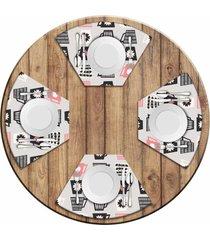 jogo americano love decor  para mesa redonda wevans xãcaras kit com 4 pã§s - multicolorido - dafiti