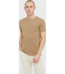 selected homme slhbrooklyn ss crew neck b t-shirts & linnen ljus brun