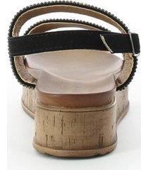 sandalias para mujer marca via spring color negro via spring - negro