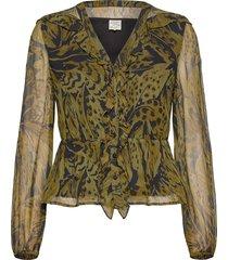 mariegold blouse lange mouwen groen baum und pferdgarten