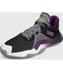 tenis basketball negro-violeta-blanco adidas performance d.o.n issue 1