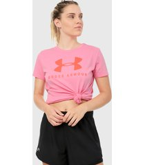 camiseta lila-morado under armour graphic