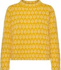 sarali stickad tröja gul jumperfabriken