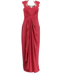 draped lace gown