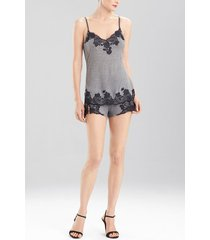 charlize short pajamas, women's, grey, size xl, josie natori