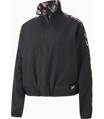 puma x tabitha simmons reversible women's trainingsjack voor dames, zwart/aucun, maat xxs