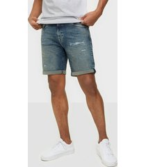 selected homme slhalex 414 mid blue su-st dnm shor shorts blå