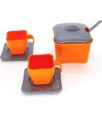 brinquedo de cozinha - mini xícaras e açucareiro 7 peças - para meninos e meninas - samba toys