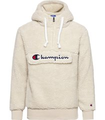 hooded half zip top sweat-shirts & hoodies fleeces & midlayers wit champion