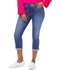 petite women's nydj chloe capri jeans, size 8p - blue