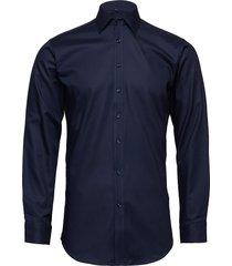 fine twill - slim fit skjorta business blå seven seas copenhagen
