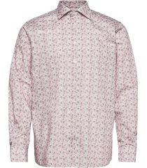 contemporary fit offwhite/brown signature twill shirt skjorta business rosa eton