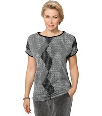 shirt mona lichtgrijs::antraciet