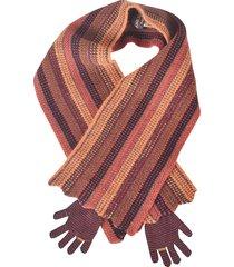 de clercq stripe pattern woven scarf