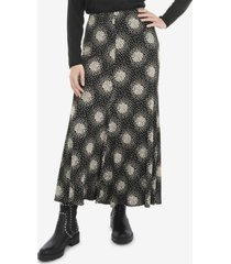 live unlimited women's plus size mono scatter heart jersey pull on skirt