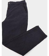 calça plus size slim fit ex adverso chino masculina - masculino
