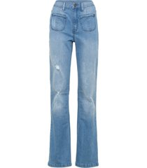 jeans a zampa con poliestere riciclato (blu) - rainbow
