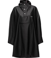 pu light rainponcho outerwear rainwear rain coats svart tretorn