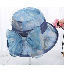 sombrero del sol de seda del verano de las mujeres de ala ancha sombreros