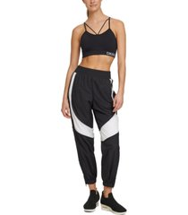 dkny sport relaxed colorblocked track pants