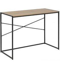 biurko na metalowej podstawie kane dąb