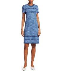 short sleeve tweed shift dress