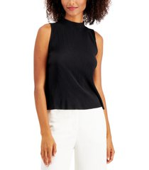 alfani petite high-neck knit tank top, created for macy's